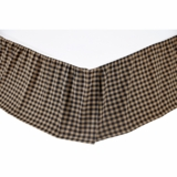 Black Check Twin Bed Skirt 39x76x16