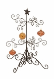 """Black Colored Contemporary Metal Christmas Tree w/ Iron Branches 29""""H, 24""""W by Woodland Import"""