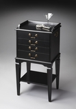 "Black Licorice Silver Chest 18""W by Butler Specialty"