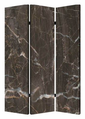 Black Marble Screen Crafted with Artistic Detailing on Canvas Brand Screen Gem