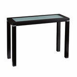 Black Metallic Frosted Glass Top Console Table by Southern Enterprises