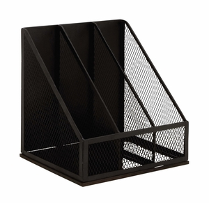 Black Polished Attractive Metal Magazine Rack by Woodland Import