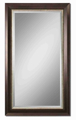 Blaisdell Distressed Wall Mirror with Espresso Bronze Finish Brand Uttermost