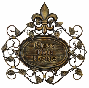 Bless This Home Metal Wall Decor Sculpture Top Seller