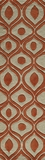 "BLISSBS-09ORG-BLISS COLLECTION 2'-3"" x 8'-0"" Runner by Momani Rugs"