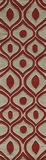 """BLISSBS-09RED-BLISS COLLECTION 2'-3"""" x 8'-0"""" Runner by Momani Rugs"""