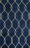 """BLISSBS-12NVY-BLISS COLLECTION 2'-3"""" x 8'-0"""" Runner by Momani Rugs"""
