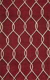 """BLISSBS-12RED-BLISS COLLECTION 2'-3"""" x 8'-0"""" Runner by Momani Rugs"""
