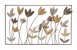 Blowy Flowers Fashionable Metal Wall D�cor Brand Benzara