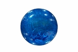 Blue Crackled Glass Ball with LED Lights - Small by Alpine Corp