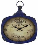 Blue Finish Pleasant Styled Galina Clock by Cooper Classics