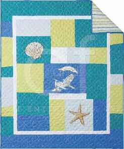 Blue Oasis Throw 50 x60 Inches Brand C&F