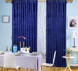 "Blue Velvet Window Theater Curtain Drape 84""-108"" Brand Wild Orchid"