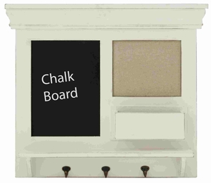 Bochum Chalkboard Wall Shelf Hook Exclusively Refined Spectacular Creation Brand Benzara