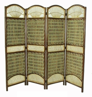 Bochum Four-Panel Screen Divider, Vintage Styled Plus Captivating Creation by D-Art