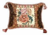 Bold And Beautiful Peony Petit Point Pillow by 123 Creations