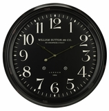 Bold and Black Norton Clock by Cooper Classics