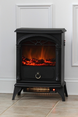 Bologna Electric Fireplace Stove, Efficient and Elegant Heating Unit by Well Travel Living