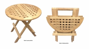 Bonn Picnic Table, Round Shaped Lively Robust Creation by D-Art