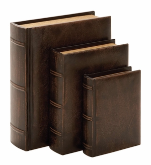 Book Box Leather Antique Book Box Set Brand Woodland