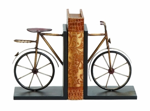 Bookends in Cold Cast Metal Bicycle, Bicycle Bookends in Metal Brand Woodland