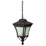 Borrego Collection 1 Light Hanging Exterior Lightin Desert Night Frame with Frosted glass by Yosemite Home Decor