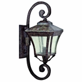 Borrego Collection Exclusively Styled 3 Light Exterior Light Wall Mount in Desert Night Frame by Yosemite Home Decor