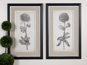 Botany Artwork In Classical Wood And Silver Frame Set Brand Uttermost