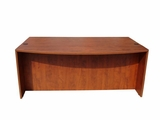 "Bow Front Desk Shell, Cherry 71Wx36/41""Dx295""H by Boss Chair"