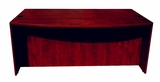 "Bow Front Desk Shell, Mahogany 71""Wx36/41""Dx295""H by Boss Chair"
