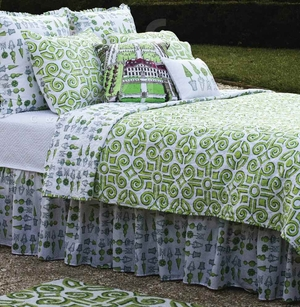 Boxwood Abbey Dust Ruffle Queen 60x80+18 Inches Drop Brand C&F