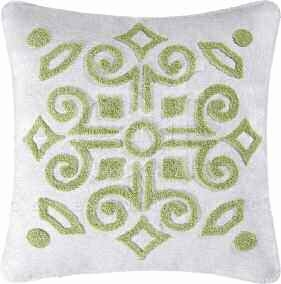 Boxwood Abbey Tufted Pillow 18 x18 Inches Brand C&F
