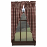 Braddock Prairie Curtain Scalloped Lined Set of 2-63x36x18