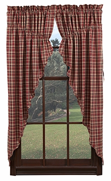 "Braddock Prairie Curtain Scalloped Lined Set of 2-63x36x18"" VHC Brand - 12367 Brand VHC"