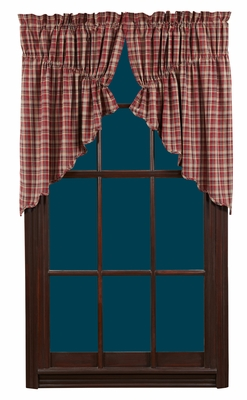 "Braddock Prairie Swag Scalloped Lined Set of 2-36x36x18"" VHC Brand - 12368 Brand VHC"