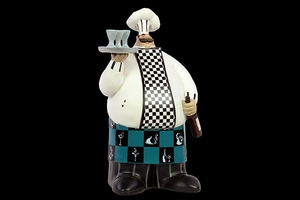 Bradford's Must Have Unique Resin Chef by Urban Trends Collection