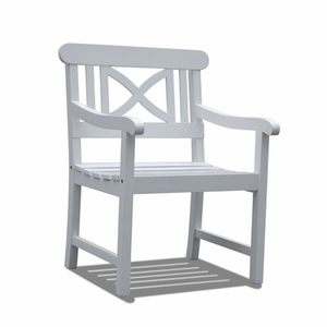 Bradley Outdoor Wood Armchair by Vifah
