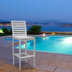 Bradley Outdoor Wood Bar Chair by Vifah