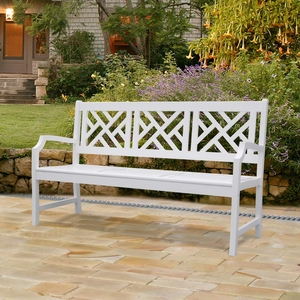 Bradley Outdoor Wood Bench by Vifah
