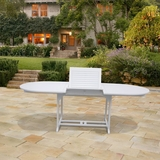 Bradley Outdoor Wood Oval Extension Dining Table by Vifah