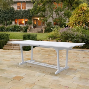 Bradley Outdoor Wood Rectangular Extension Dining Table by Vifah