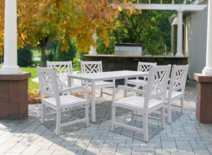 Bradley Rectangular Table & Armchair Outdoor Wood Dining Set by Vifah