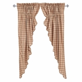 Bradley Scalloped Prairie Curtain Set of 2 63x36x18 - 25626 by VHC Brands