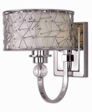 Brandon 1 Light Wall Sconce With Nickle Plated Finish Brand Uttermost