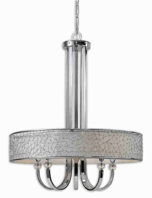 Brandon 5 Light Abstract Chandelier With Nickle Finish Brand Uttermost