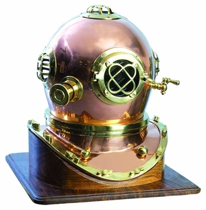 BRASS DIVING HELMET, Nautical Helmet in Brass, 19 Inch wide Brand Woodland