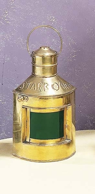 Brass Lantern Starboard in Gold Finish with Unique Design Brand Woodland