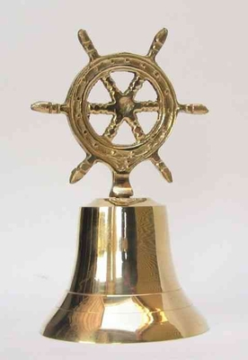 Brass Ship Wheel Bell Impresses The Visitors At Very First Sight Brand IOTC