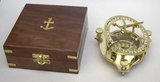 Brass Sun Dial Compass In Box - Great Nautical Compass Brand IOTC