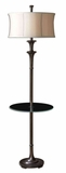 Brazoria End Table Floor Lamp with Tempered Glass Tray Brand Uttermost